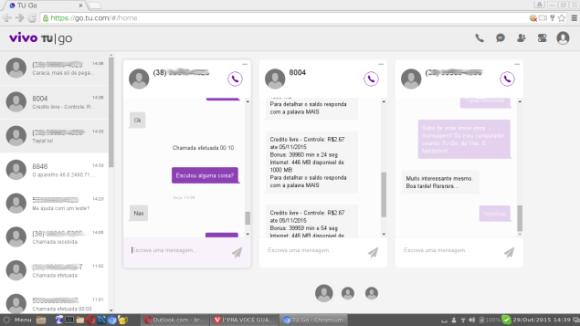SMS pela web agora é possível com Vivo Tu GO (Foto: Bruno Cidadão/Reprodução)