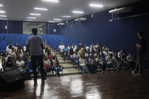 Bruno Cidadão ministrou minicursos e palestras (Foto: Alessandra Mendes/PMD)
