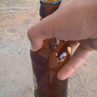 Uma experiência com uma garrafa de cerveja